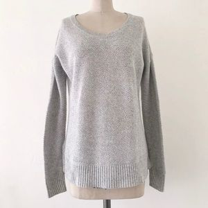 MADEWELL | Gray Cotton Long Sleeve Sweater